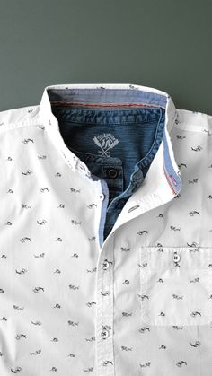 Men's Fashion Layering // Henley and button down // patterned shirt // Flag & Anthem King Fashion, Men's Fashion, Fashion Tips, Mens Shirt Pattern, Mens Printed Shirts, Polo Shirt Outfits, Trendy Mens Fashion, Mens Designer Shirts, White Shirt Men