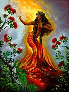 Pele Hawaiian Goddess of the Volcano: Mythical Realm presents people of myth and legend