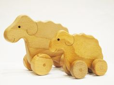 Sheep Family on wheels Toys for toddlers Wooden Rolling Toy Learning Toy on wheels Montessori Wood Toy Gift for kids by WoodenCaterpillar on Etsy