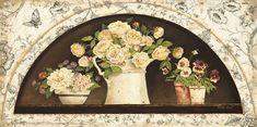 Disc-French Creamware-Roses ~ Kathryn White