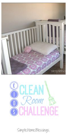 Kids Clean Room Challenge DAY 5 - a week-long series to encourage kids to help keep their rooms tidy.