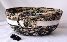Wexford Treasures: Lovely Autumn Fall Basket Beautiful Handmade Fiber Bowl by WexfordTreasures
