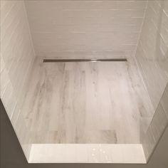 Wooden tiles in shower Tile Floor, Tiles, Bathtub, Flooring, Shower, House, Inspiration, Room Tiles, Standing Bath