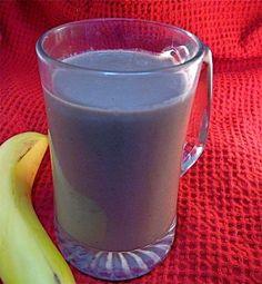 Chocolate Soymilk Banana Peanut Butter Smoothie