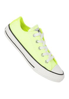 CONVERSE Kids Chuck Taylor All Star Ox Washed neon yellow #planetsports