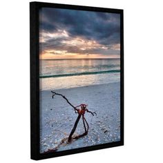 ArtWall Steve Ainsworth The Storm Gallery-Wrapped Floater-Framed Canvas, Size: 36 x 48, White