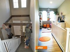 above stair case playroom and other great remodeling ideas