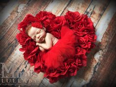 Newborn Red Valentine's day tutu with matching by mimislullaby