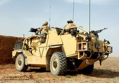 A Jackal Armoured Vehicle is put through it's paces in the desert at Camp Bastion, Afghanistan.