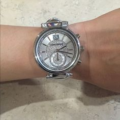 UNTIL MIDNIGHT Michael Kors silver watch Gorgeous Michael Kors watch!! Needs batteries. NWT Michael Kors Accessories Watches