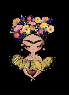 Kahlo Paintings, African Art Paintings, Watercolor Paintings, Frida Art, Painting Inspiration, Art Inspo, Arte Popular, Mexican Folk Art, Skull Art