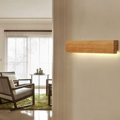 Wall Mounted Lamps, Wall Lamps, Diy Light Fixtures, Bathroom Wall Sconces, Wall Sconce Lighting, Bedroom Lighting, Wood Sizes, Wooden Walls, White Walls
