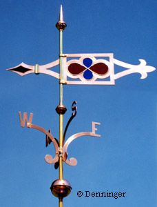 Denninger Gothic Caramoor Banner Weather Vane Lightning Rod, Weather Vanes, Old Farm Equipment, Wind Spinners, Wind Power, Covered Bridges, Windmills, Wind Turbine, Gothic