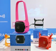 Project movies on the go — without a cumbersome device. The Cinemood ($280, preorder) is a tiny wireless de...