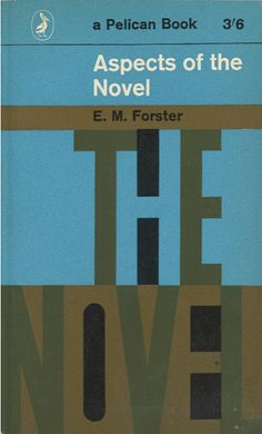 Book cover design by David Gentleman, 1962. 'Aspects of the Novel, by E. M. Forster.