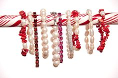 Red and white bracelets with a peppermint twist!