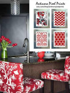 1000 images about grey and red on pinterest red accent - Red and grey kitchen designs ...