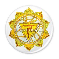 Chakra Manipura - Chakra del Plexo Solar / Pin & Magnet 6 cm. 5€ unidad