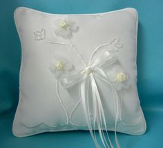 Organza Pillow with Floral Design