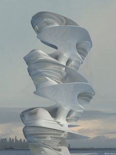 Hybrid Hotel ,Dubai , Inspired by Singing Dunes Phenomenon seen on evolo. The skyscraper was designed by Barbara Leonardi and Oliver Dibrova. (Singing dunes is a phenomenon found exclusively in desert environments)