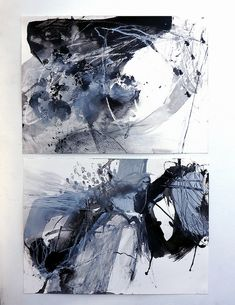 bless ( in reply to a poem by dswoo ) by mayako nakamura - paper, acrylic, chalk, charcoal