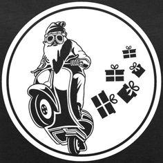 WEIHNACHTSMANN AUF MOTORRAD, MOTORRAD BILD, SHIRT