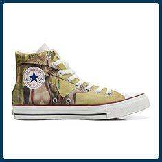5a8d67721b1 Converse All Star Hi Customized personalisierte Schuhe (Handwerk Schuhe)  Geisha style TG46 - Sneakers