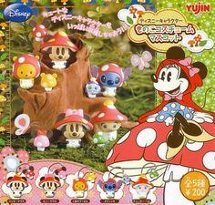 Disney Gashapon capsule toys from Japan - mushrooms