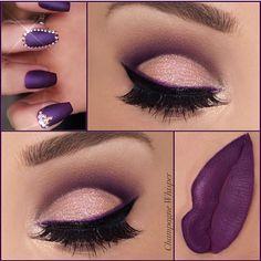 beautiful purple makeup