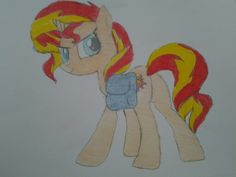 my drawing of sunset shimmer from my little pony. :)