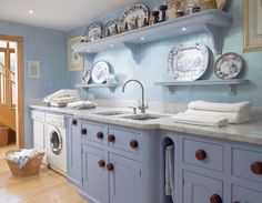 25 Ways to Give Your Small Laundry Room a Vintage Makeover Laundry room decor Small laundry room organization Laundry closet ideas Laundry room storage Stackable washer dryer laundry room Small laundry room makeover A Budget Sink Load Clothes Utility Room Storage, Laundry Room Storage, Laundry Room Design, Kitchen Design, Laundry Closet, Closet Storage, Kitchen Ideas, Small Laundry Rooms, Furniture