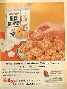 1954 Kellogg's Rice Krispies Treats ad
