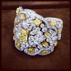 New from the London workshop: An exquisite Yellow & White Diamond cuff, Graff