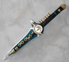 Green Mighty Morphin Power Ranger dagger by cosplaymandy on Etsy