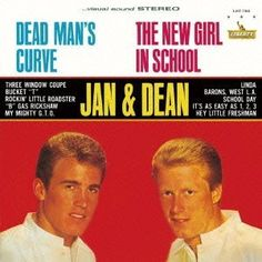 """Dead Man's Curve / The New Girl In School"" (1964, Liberty) by Jan & Dean.  Contains the 45 single version of ""Dead Man's Curve."""