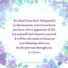 It's ok if you don't feel grateful in the moment