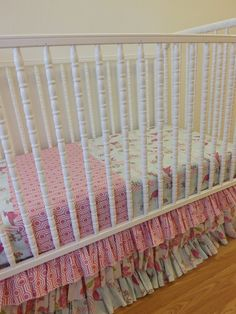SALEBumperless Crib BeddingREADY to SHIP by LittleCharlieMay