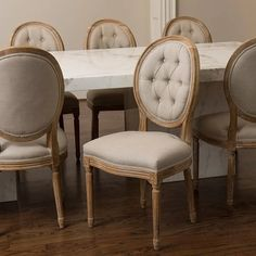 French Dining Chairs, French Country Dining Room, Round Back Dining Chairs, Vintage Dining Chairs, Fabric Dining Chairs, Modern Dining Chairs, Dining Table Chairs, Dining Room Chairs, Side Chairs
