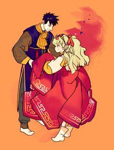 Hanbok illustration  | 한복 Hanbok : Korean traditional clothes[dress] | RocoA