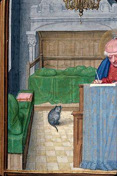 St. Matthew writing his Gospel  book of hours, Bruges ca. 1510-1525  Rouen, BM, ms. 3028, fol. 63r