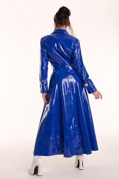 Maßanfertigung-Lack Kapuzen Mantel 8 Farben möglich