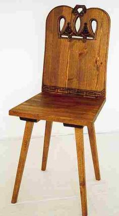 Carved Chairs   Viking 'Dragon' Revival carved wooden chair furniture