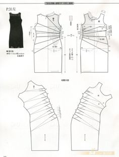 Draped dress, pattern instructions