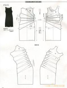 Draped dress, pattern instructions