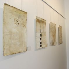 I like the idea of thin pieces! encaustic painting by Patricia Baldwin Seggebruch