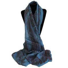 Scarves Wholesaler Gothic Swirls Blues - Gothic Scarves #Wholesale_Scarves #Scarves_Wholesale #Scarves_Blue