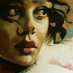 """thomas saliot; Oil, Painting """"Regard"""""""
