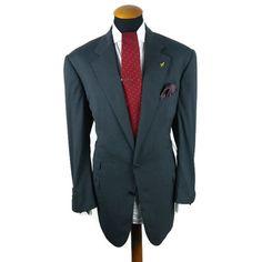Men s ERMENEGILDO ZEGNA Taglia Exclusivo Blazer SIZE 44L Jacket Wool Grey Gr 106
