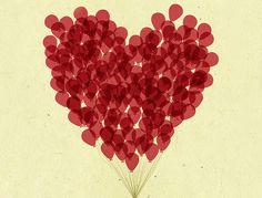 #love #heart #balloons