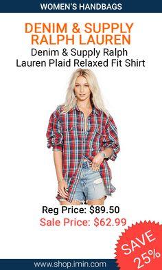 Denim & Supply Ralph Lauren Plaid Relaxed Fit Shirt #fashion #I mIn #sale http://www.shop.imin.com/p/Denim-%26-Supply-Ralph-Lauren-Plaid-Relaxed-Fit-Shirt/1639897
